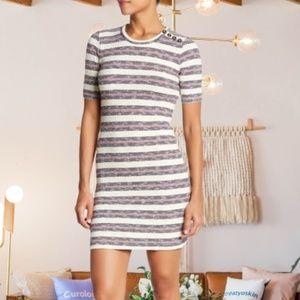 Madewell Ribbed Short Sleeve Sweater Dress